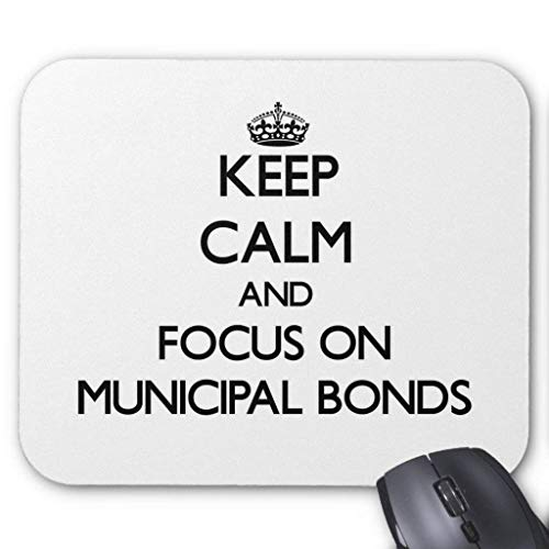 Whecom Gaming Mauspad Schwarz, Keep Calm and Focus On Municipal Bonds Mouse Pad 18