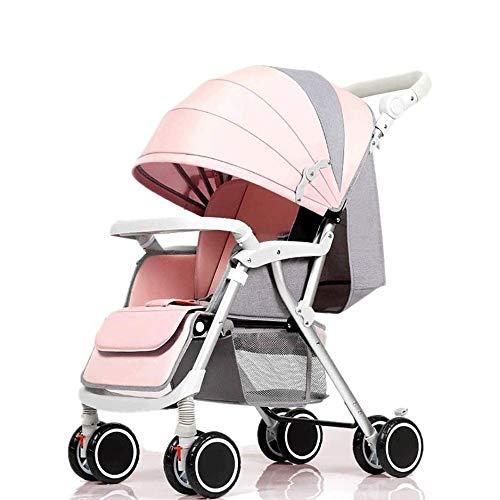 Hammer Infant Passeggino for il neonato e del bambino - carrozzina compatta singola Carrozzina, leggero pieghevole 4 Sospensione 2 ruote Newborn Trolley Pusher altezza regolabile