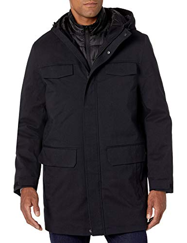 Nautica Men's 3 in 1 System Parka Jacket, Navy, Large