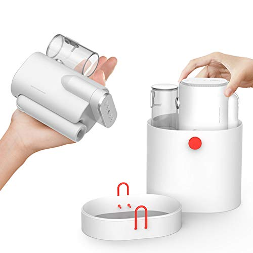 SYXZ Bügelmaschine, tragbares dampfbügeleisen für Textilien, perfekt für zu Hause und unterwegs, 10 Sekunden schnelles Aufheizen,Weiß