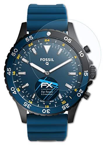 atFoliX Schutzfolie kompatibel mit Fossil Q Crewmaster Folie, ultraklare FX Bildschirmschutzfolie (3X)