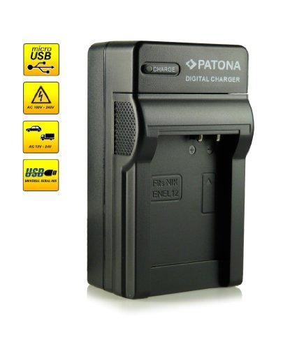 ¡Novedad! – El primero cargador de batería con conexión micro USB · adecuado para la batería EN-EL12 para Nikon CoolPix AW100 | AW110 | P300 | P310 | P330 | S31 | S70 | S710 | S610 | S610c | S620 | S630 | S640 | S800c | S1000pj | S6100 | S6300 | S6400 | S8000 | S8100 | S9100 | S9200 | S9300 | S9400 | S9500 y mucho más…