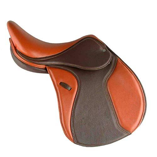 SWWS Sattelbaum und Reitausrüstung Sitzkissen, Gelb Leder ist stark Wear-Resistant Komfortable atmungsaktiv und Nicht verformt, geeignet für allgemeine Reiten
