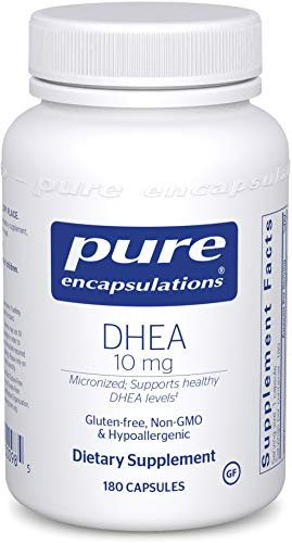 Pure Encapsulations - DHEA 10 mg - Micronized Hypoallergenic Supplement to Support Healthy DHEA Levels - 180 Capsules