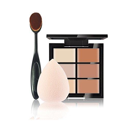 FantasyDay® 6 Couleurs de Maquillage Crème Correcteur Concealer Contour Palette Fond de Teint Cosmétique Anti-cernes Mettez en Surbrillance Camouflage Palette + 1PC Pinceau de Maquillage