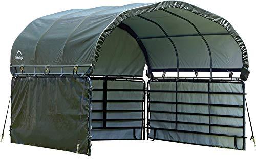 ShelterLogic 51483 10' x 10' Corral Shelter Enclosure Kit, Green