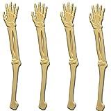 "Royer 6"" Plastic Skeleton Arm Swizzle Sticks, Set of 24 - Made In USA (Ivory)"