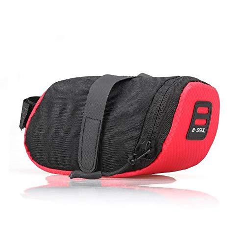 panthem Fahrradtaschen Fahrradsatteltasche Fahrrad Sattel Tasche Rahmentasche Mountainbike Bag für Mini Fahrradpumpe Fahrradreparaturwerkzeug, Fahrradzubehör (rot)