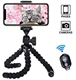 Cypin Flexible Phone Tripod with Wireless Selfie Remote Shutter, Portable and Adjustable Phone
