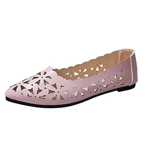 Sandales Femme Ete 2019 Honestyi Escarpins à Talons Bas Chaussures Pointu Sandales Creux Tongs Fond Mou Chaussures Facile à Assortir Shoes