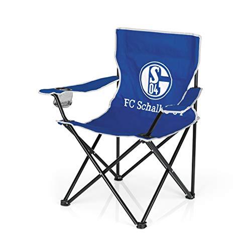 Schalke 04 Unisex– Erwachsene 00956 Campingstuhl, blau, 80