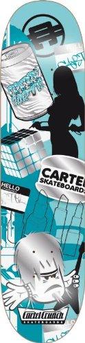 Cartel Skateboard Mishmash, grau, 19,5 cm