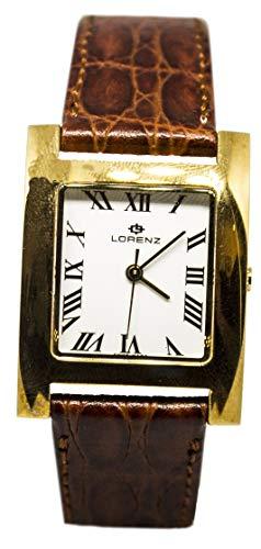 Herenhorloge van goud, rechthoekig