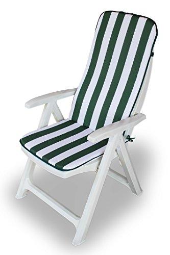 Maratex Cuscino Copri Sedia da Giardino 45x120 MOD. Relax Righe (Verde)