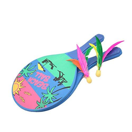 STOBOK Beach Paddle Ball Spiel Badminton Schläger Set Indoor Outdoor Schläger Spiel für Kinder und Erwachsene