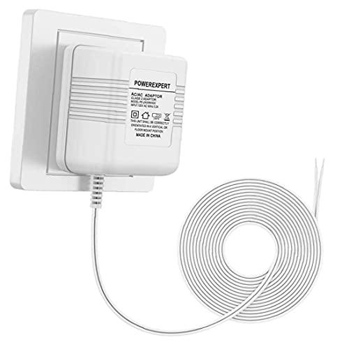 RRunzfon Transformador de Video de Video, Adaptador de Transformador de Cable 24V 500MA, con Cable de Carga de 8 m