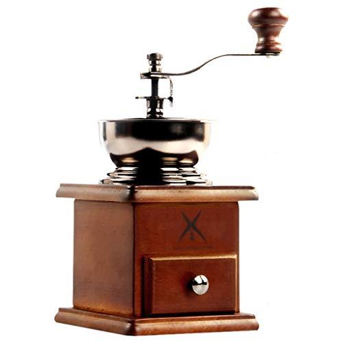 Molino de caf/é de mano Manivela compacta para el hogar M/&W Molino de cer/ámica de groser/ía ajustable oficina y viajes Molinillo manual de caf/é en grano