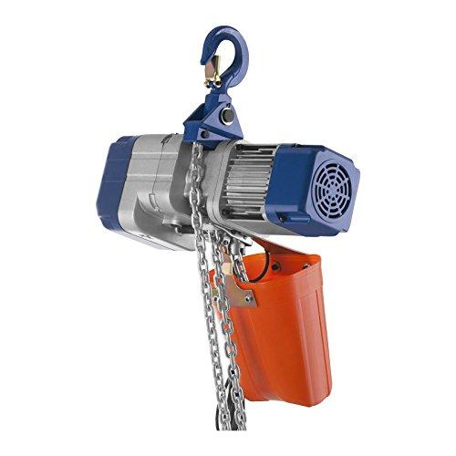 MSW - Kettenzug Seilwinde Laufkatze (Elektrisch, 1.100 W, 2.000 kg Hebeleistung, 400 V, 2,5 m/min Geschwindigkeit, Fernbedienung)