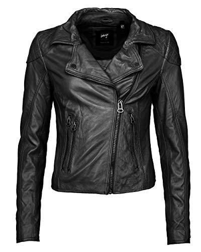 Preisvergleich Produktbild Maze Damen Lederjacke Im Bikerlook Ibiza Black XS