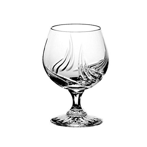 Lot de aljulia 5794 Cognac en Cristal en Verre 250 ML Lot de 6