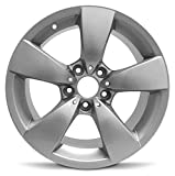 Road Ready Car Wheel for 2004-2007 BMW 525i 17 inch 5 Lug Silver Aluminum Rim Fits R17 Tire - Exact OEM Replacement
