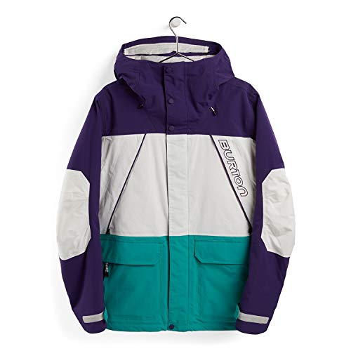 Burton Herren Breach Snowboard Jacke, Parachute Purple/Stout White/Dynasty Green, M
