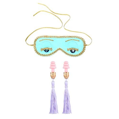 Utopiat Holly Seide Schlafaugenmaske & Quaste Ohrstöpsel Set Frau inspiriert von Audrey Hepburn Stil (mit Geschenkbox)