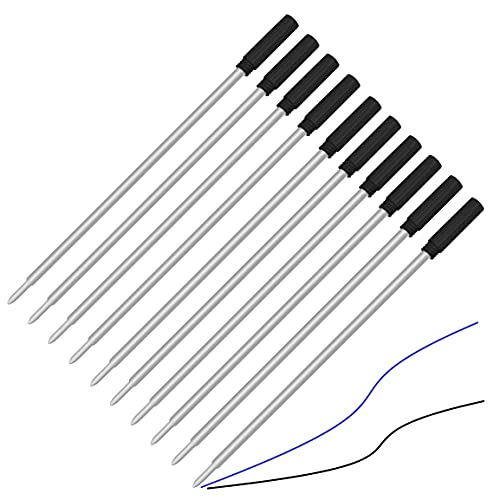 10 Pack, Pen Savings Ballpoint Pen Refills Compatible with Cross & Vera Bradley Ballpoint Pens, Medium, Bulk Packed (5 Black / 5 Blue)