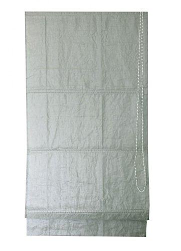 Homemaison vouwgordijn, eenkleurig, linnenlook, grijs, 250 x 120 cm