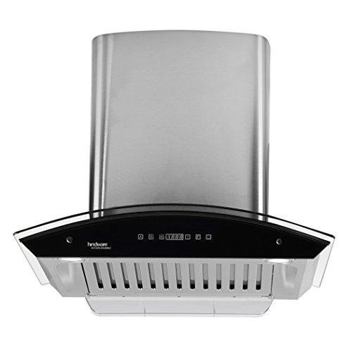 Hindware 60cm 1200 m3/hr Auto Clean Chimney (Nevio 60, 1 Baffle Filter, Steel/Grey)
