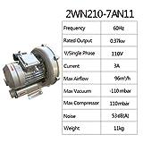 Ring Blower For Fish Tank Regenerative blower 370W 110V 60HZ Single Phase Centrifugal blower Aluminum Alloy...