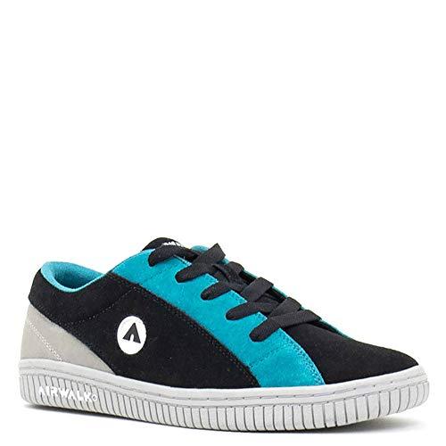 Airwalk Mens The One Suede TRI Black Skate Inspired Sneakers Shoes 10