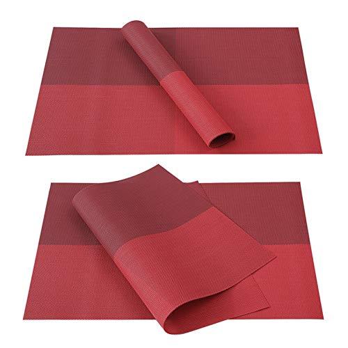 Alfombra de escritorio Juegos de mesa de PVC rojo de Navidad para comedor Poster de la taza de plástico en la cocina de hojas de arce Pad Martillas de mesa rectángulo lavable decoración del hogar