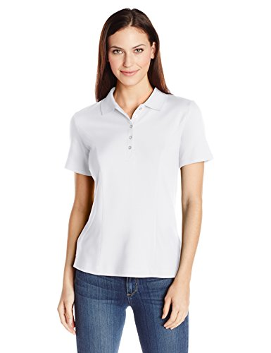 Riders by Lee Indigo Women's Short Sleeve Polo Shirt, Arctic White, XX-Large
