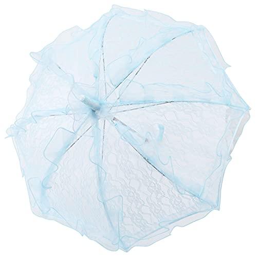 Gedourain Sombrilla de Encaje, Mini Paraguas de Encaje Plegable para Celebraciones para Bodas