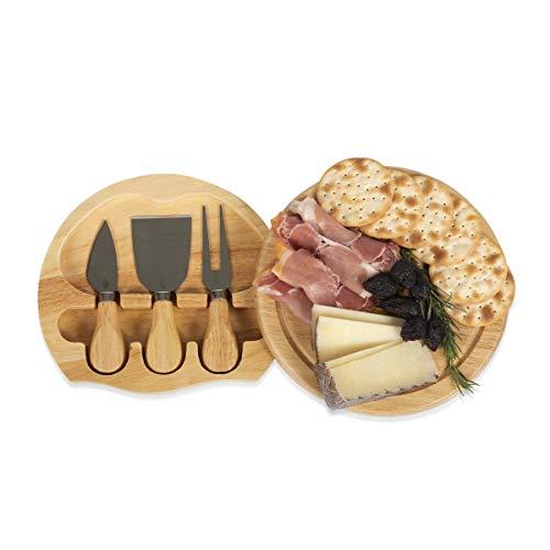 Picnic Time Brie - Tabla de quesos con herramientas para queso (19 cm)