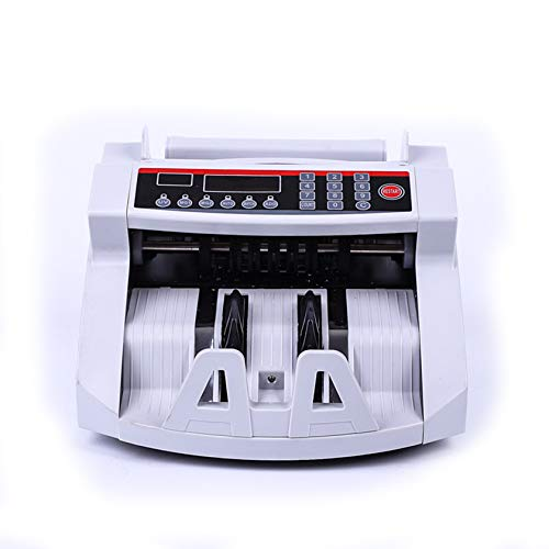 Gycdwjh Detector portátil de Billetes Falsos,Contador de Billetes de Banco Profesional,Sensor Dual MG/UV,con Pantalla LED,Contador de Billetes multifunción