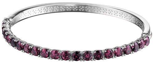 ESPRIT Collection Damen-Armreif 925 Sterling Silber rhodiniert Glas Zirkonia Idya Berry pink ELBA91044D600