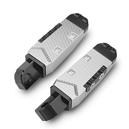 ACEACE Peg PEGS FOR GSXR600 GSXR750 GSXR1000 GSXR1300 GSR600 GSR750 Pedal de pasajeros Trasero de Aluminio CNC (Color : Silver)