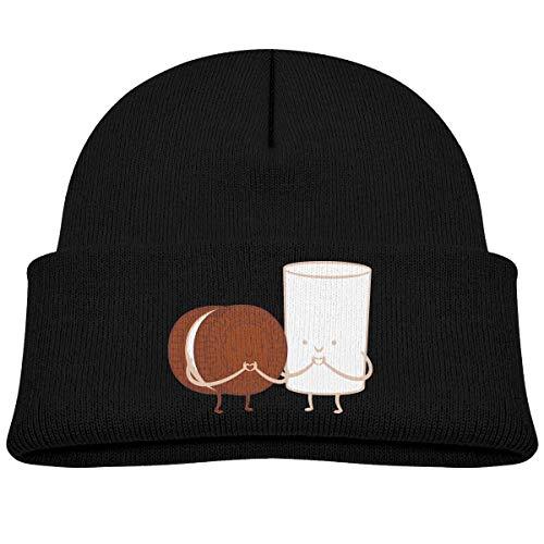 hgdfhfgd Keks und Milch Baby Kleinkind Kleinkind Winter Warme Mütze Hut Niedliche Kinder Dicke Dehnbare Mütze Warm halten 3830