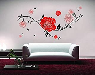 Miihome Removable Wall Decor Sticker - The Red Rose