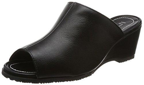 [ロメオ バレンチノ] オフィスサンダル ミュール オフィス ヒール6cm 3E 室内履き ブラック 24 cm