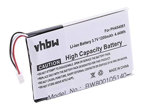 vhbw Akku 1200mAh (3.7V) kompatibel mit Festnetz, schnurlos Handy Philips S10A, S10A/38, S10H Ersatz für PH454061.