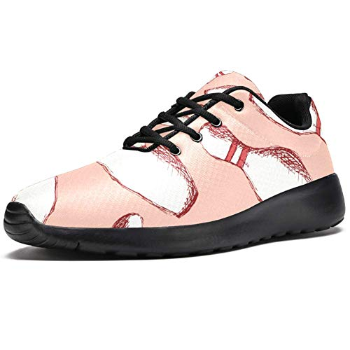 TIZORAX Laufschuhe für Damen, Bowling-Pins, modische Sneakers, Netzgewebe, atmungsaktiv, Wandern, Tennisschuh, Mehrfarbig - mehrfarbig - Größe: 37 EU