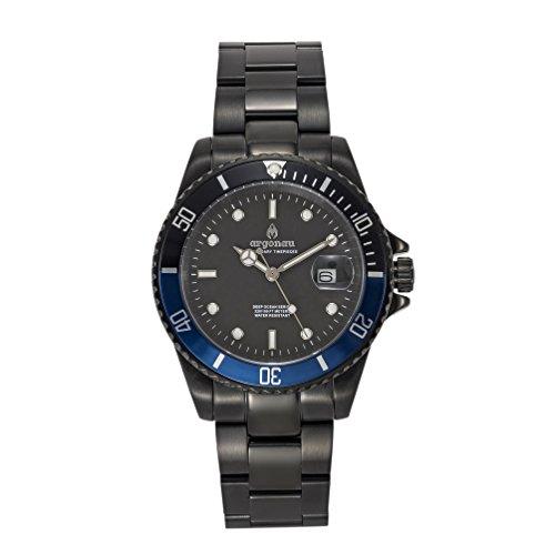Argonau Unisex Erwachsene Analog Quarz Uhr mit Edelstahl Armband AU2008