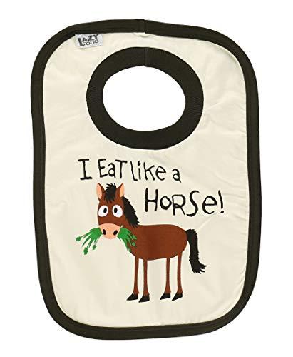 LazyOne Unisex Eet als een paard Baby Bib