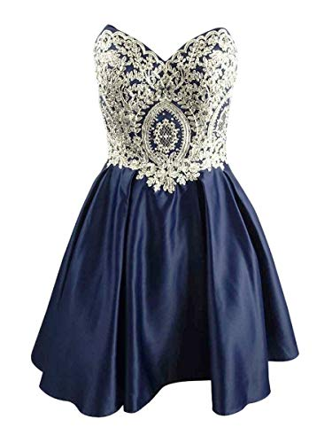 Price comparison product image Betsy Adam Women's Dress A-Line Embroidered Rhinestone Blue 2