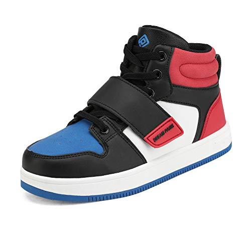 DREAM PAIRS Zapatillas de Baloncesto para niños y niñas Rojo/Azul/Negro 20 MX Niño pequeño