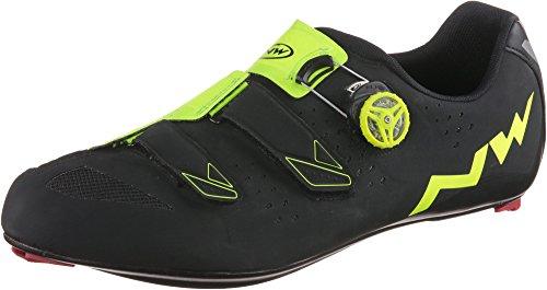 Northwave Phantom Carbon, Scarpe da Bicicletta Uomo, Nero/Giallo, 42 UE