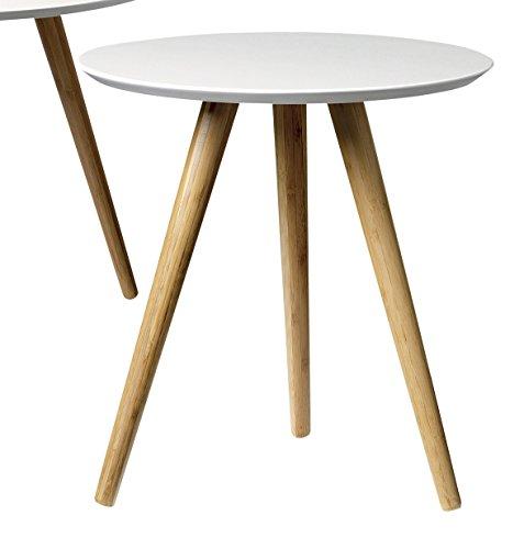 Bloomingville Beistelltisch (Coffee Table) skandinavisch nature/white Ø 39 cm